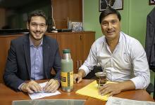 Emanuel Gainza con Pablo Ansanoli