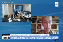 Ginés González García en videoconferencia con senadores