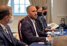 Martín Guzmán en Nueva York en una reunión con inversores a quienes les explicó los objetivos marcoeconómicos de 2021.