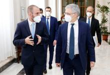 Guzmán en Roma, en el encuentro con su par italiano, Daniele Franco.
