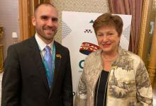 Guzmán junto a Georgieva en Arabia