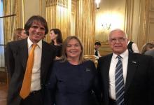 Medina asistió a la asunción de funcionarios en la embajada de Estados Unidos