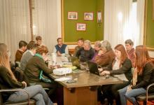 Imagen de archivo de la reunión de trabajo entre funcionarios de la Municipalidad de Gualeguaychú e Hidráulica provincial.