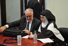 Luisa Toledo con Miguel Cullen inicio del juicio