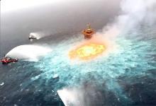 El incendio en la plataforma petrolera de la estatal Pemex, generó un daño ambiental incalculable.