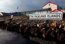 Islas Malvinas bienvenida en inglés