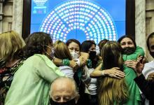 """Los """"verdes"""" son optimistas de cara a la definición de la interrupción voluntaria del embarazo que abordará el Senado a partir del lunes."""