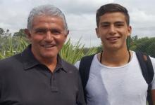 El hijo del entrerriano Jorge Burruchaga se sumó a las prácticas de Arsenal de Sarandí