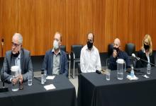 Robles, Winderholler y Waigel con sus abogados