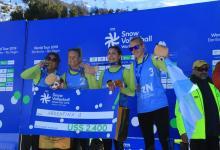 Una entrerriana se colgó una medalla en el Circuito Mundial de Snow Volley
