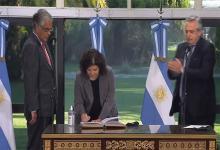 Carla Vizzotti prestó juramento como ministra de Salud de la Nación ante el Presidente Alberto Fernández en la Residencia de Olivos.