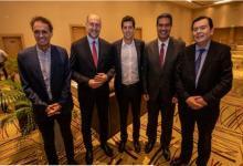 Gabriel Katopodis, Omar Perotti, Eduardo De Pedro, Jorge Capitanich y Gerardo Morales