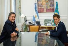 Máximo Kirchner con Axel Kicillof
