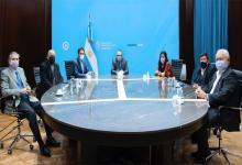 El ministro Matías Kulfas (en el centro) en la reunión con los referentes del Consejo Agroindustrial Argentino.