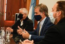 Martín Piaggio y equipo de gobierno