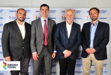 Juan Manuel Rossi y Lisandro Gamarra junto a Roberto Lavagna y Juan Manuel Urtubey