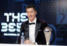 Messi resignó el premio FIFA The Best en manos de Lewandowski, primer polaco en ganarlo