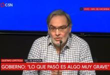 Captura de TV del secretario de Energía, Gustavo Lopetegui.