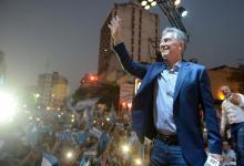 Macri durante su visita a Tucumán