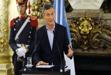 Fotografía de archivo de abril de 2016 de Mauricio Macri cuando explicó en conferencia de prensa su participación en la offshore Fleg Trading.