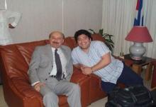 Raúl Taleb con Diego Maradona
