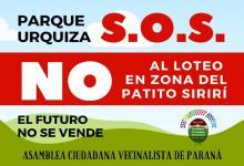 marcha contra loteo Parque Urquiza