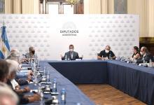 Sergio Massa con referentes sindicales