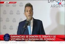 Sergio Massa Congreso sesión Ganancias