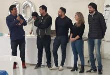 Marcelo Casaretto y Estefanía Cora junto a Mauro Urribarri en el cumpleaños de Lautaro Gervasoni, cuya celebración fue casi un acto político.