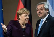 Ángela Merkel y Alberto Fernández.