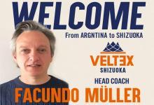 Veltex Shizuoka anunció la llegada del paranaense Facundo Müller