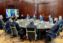 Del anuncio del Presidente ante representantes de empresas participaron el ministro de Desarrollo Productivo, Matías Kulfas; el de Economía, Martín Guzmán, y la vicejefa de Gabinete, Cecilia Todesca.