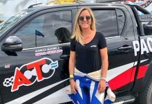 La concordiense Nadia Cutro manejó el auto de seguridad en el Turismo Carretera