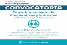 Paraná: reabren el empadronamiento de cooperativas y mutuales de la ciudad