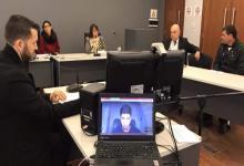 primera audiencia judicial con videoconferencia desde Alemania