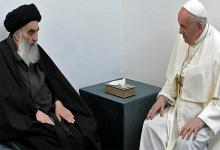 Diálogo histórico. Francisco visitó a Al-Sistani en su residencia.