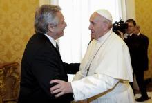 Fernández con Papa Francisco