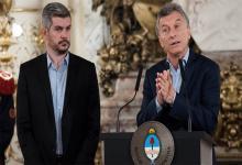 Marcos Peña y Mauricio Macri. La actual administración reclama los videos originales de Presidencia de la Nación por constituir parte del patrimonio histórico del país.