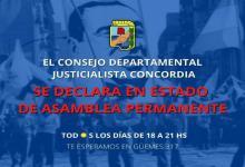 """Tras las PASO, el PJ de Concordia declaró """"el estado de asamblea permanente"""""""