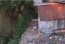 barrio Humito casas en peligro de desmoronamiento