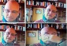 El ex SIDE Julio César Pose, en la audiencia virtual.