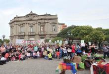 La protesta se realizó ayer por la tarde frente al Palacio de Tribunales de Gualeguaychú.