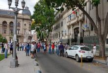 protesta de pescadores en Tribunales de Santa Fe