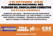 El sindicalismo combativo se movilizará este jueves en Concepción del Uruguay
