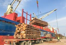 Un buque ultramarino ingresó al puerto de Concepción del Uruguay para cargar madera con destino al mercado indio.