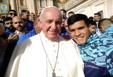 De gira por Roma con la selección nacional, el entrerriano Alexis Rebozzio conoció al Papa