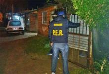 El allanamiento se realizó anoche en una vivienda de calle Entre Ríos y 11 de Noviembre de Concordia.