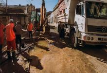 reparación caño calle Andrés Pazos