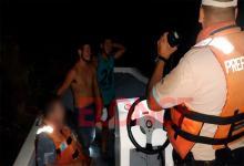 jóvenes rescatados río Paraná
