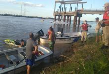 Navegaban a bordo de una embarcación que dio vuelta campana.